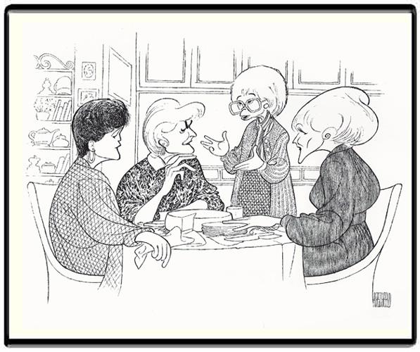 Al Hirschfeld's Golden Girls, the Limited-Edition Lithograph commissioned by NBC as the gift to cast and major creative team when the series ended.
