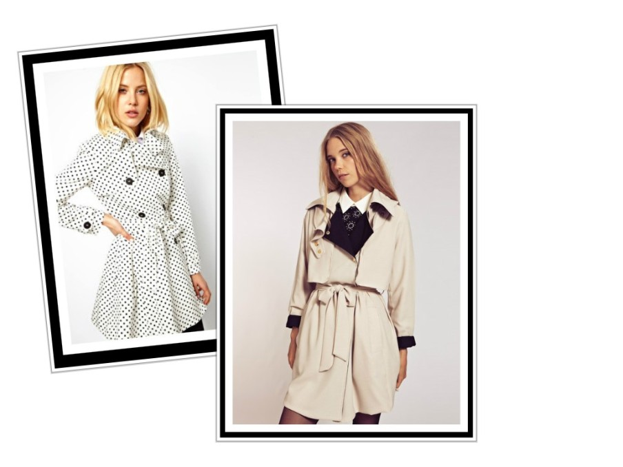 Trench Coats by Asos and Dahlia