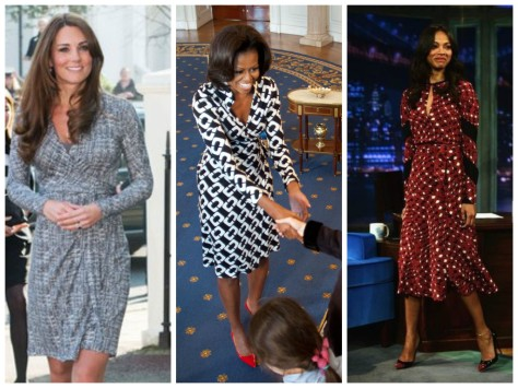 Future Queens, First Ladies, and Celebrities wear wrap dresses too!