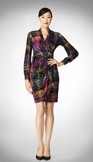 Maggy London plaid wrap dress, $98 (Source: maggylondon.com