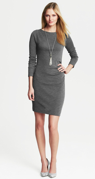 Banana Republic Draped Knit Dress