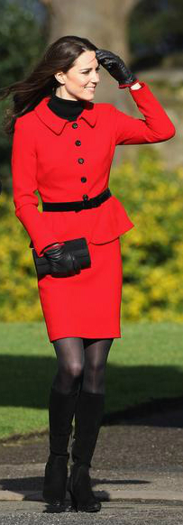 Kate Middleton Black Boots (Pinterest)