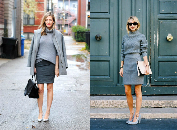 Wearing Gray - Street Style (from Pinterest)