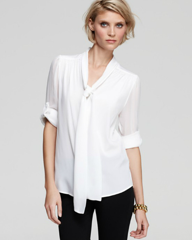 Alice & Olivia White Shirt