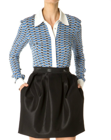 Catherine Malandrino Silk Button Down
