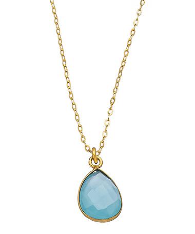 Charlene K cyan stone pendant