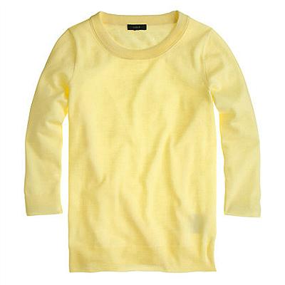 J.Crew yellow merino sweater