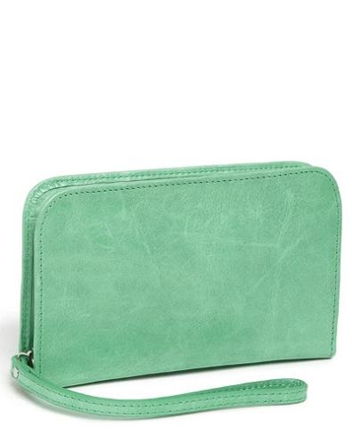 Jess mint green phone wallet