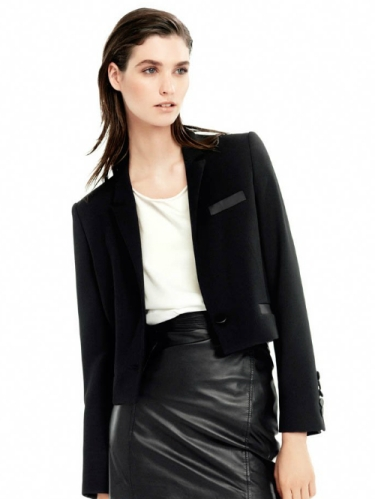 French model Manon Leloup in a boxy jacket for Mango S/S '14 lookbook. Image via Fashion Gone Rogue.
