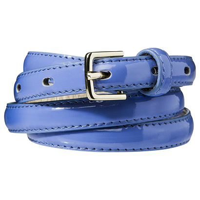 Merona periwinkle blue skinny belt