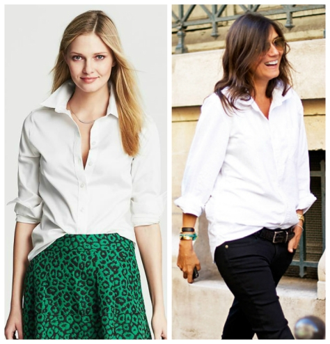 Images via Banana Republic (left) and Pinterest (right)